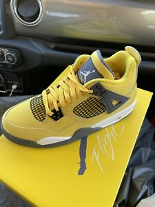 AJ4 Air Jordan 4 Lightning Tour Yellow Size Mens 9.5