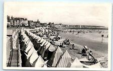 *Le Sables D'Olonne La Plage France Old Vintage RPPC Real Photo Postcard A33