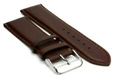 24 mm. Buffalo Leather Strap with Gold Tone Regular Buckle - Brown