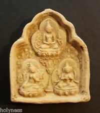 ANTIQUE TIBET BUDDHA CLAY AMULET 1200-1500 AD / RARE / #14