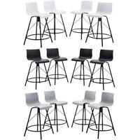 Set of 4 Modern Bar Stools Dinning Chairs Counter Height Barstool Ergonomic Seat