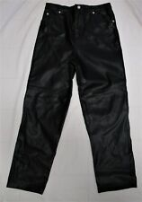 Girl's Black Faux Leather Jeans Pants Size 14