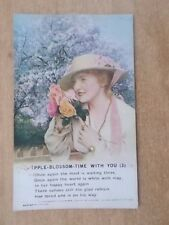 VINTAGE WW1 BAMFORTH SONG CARD - APPLE BLOSSOM TIME WITH YOU - 4995/3