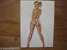 CP carte postale Postcard Illustrateur ASLAN sophie nu fkk sexy pin up
