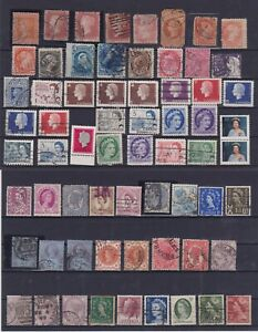 QUEEN ELIZABETH AND VICTORY BEAUTIFUL LOT OF STAMPS-