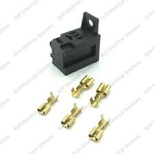4 Micro Relé Soporte para caja Módulo Auto Automotive 6 Mini Fusible De Lámina