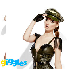 Military Chief Costume Womens Miss Behave Sexy Army Ladies Fancy Dress Outfit