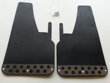 1 PAIR FRONT Black RALLY Mud Flaps Splash Guards fits PEUGEOT (MF2) x 2
