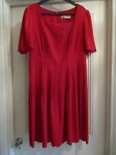 JAEGER BOUTIQUE RED DRESS - SIZE 14