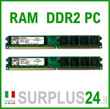 KIT RAM KINGSTON 4Gb(2x2Gb) PC2-5300U KVR667D2N5  DDR2 667Mhz 240pin x DESKTOP