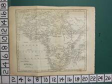 1756 ANTIQUE MAP ~ AFRICA ~ SAHARA GUINEA NUBIA MONOMOPATA ABYSSINIA TRIPOLI