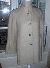 ZARA Brown Nude laine masculin manteau taille S