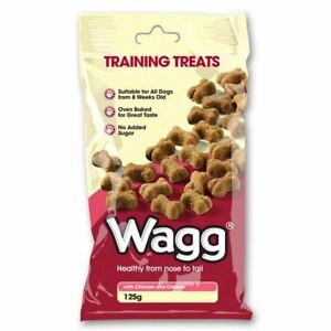 Wagg Training Treats with Chicken and Cheese 125g for Puppy Dog 8 Weeks Plus