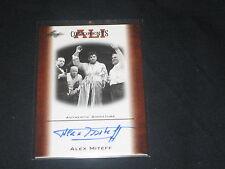 ALEX MITEFF 2010 FLEER CERTIFIED HAND SIGNED AUTOGRAPHED MUHAMMAD ALI CARD OAU-1