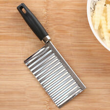 Stainless Steel Potato Wavy Cutter Chopper Vegetable Fruit Slicer Kitchen Tool