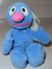 "TYCO Sesame Street GROVER 7"" Bean Bag STUFFED ANIMAL Toy 1997 w/Tags"