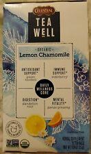 Celestial TeaWell Organic Lemon Chamomile Wellness Tea, 16 Count Box