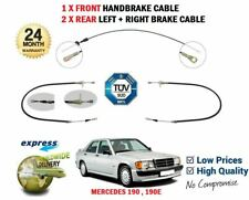 FOR MERCEDES 190 190E W201 1982-1993 1X FRONT + 2X REAR BRAKE CABLE SET 3 PIECE