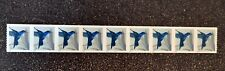 USA2014 #4858 34c Hummingbird - Plate Number Coil Strip of 9  Mint NH PNC #P1111