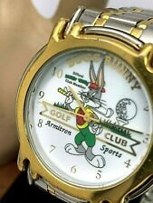 Armitron Men's Watch Looney Tunes Bugs Bunny Golf Club Two Tone Stainless Steel