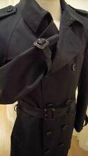 BURBERRY PRORSUM TRENCHCOAT BLACK - WATERPROOFED SLIM SKINNY FIT UK 38 40 EU 50