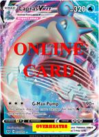 Lapras VMAX Regular Art Sword & Shield Pokémon TCG Online PTCGO ONLINE CARD FAST