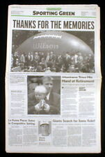 Best 1995 newspaper San Francisco 49er JOE MONTANA RETIRES from NFL FOOTBALL