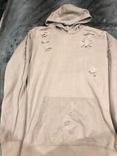 Ladies Boohoo Hoodie - Ripped/Distressed Effect, Size Small, Tan Colour