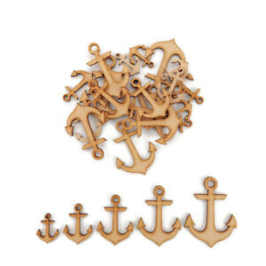 Ship Anchor MDF Craft Shapes Wooden Blank Gift Tags Decoration Embellishments
