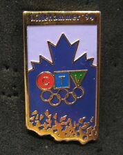 Lillehammer 1994 Olympic RARE CTV Canadian Television Media  pin