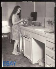 Dorothy Lamour barefoot candid in kitchen Photo From Original Negative