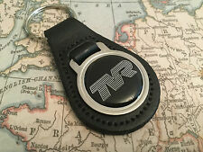 TVR Quality Black Real Leather Keyring