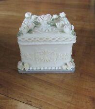Hand painted Dezine resin wedding cake trinket box FREE SHIPPING