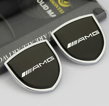 2pcs Quality Car Auto body Emblems Sticker Decal Badge fit for Shield Black AMG