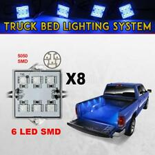 8x Pickup Truck Bed Lighting Kit LED Lighting Accessories Bright Blue Waterproof