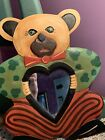 Vintage Bear Shape Teddy Bear Mirror Wall Hanging Decor - Excellent Condition