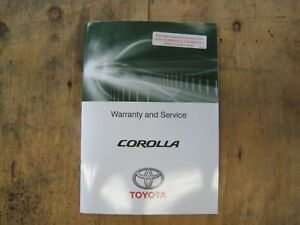 Toyota Corolla Service and Warranty Log Book ZRE172 ZRE182 2ZR-FE - TSO1315