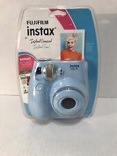 NEW Fujifilm Instax Mini 7s Light Blue Camera Bundle W/film
