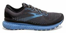 New $150 Brooks Glycerin 18 Gray Black Ebony Cornflower Running Shoes 9 B Womens
