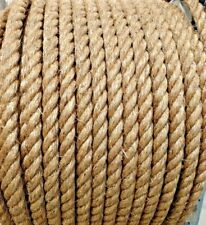 "1.25"" 1 1/4 Inch Premium Manila Rope Natural Cut To Length Order By The Foot"