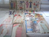 Lot of 15 Vintage Butterick Sewing Patterns 1980's