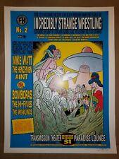 1997 Chuck Sperry Incredibly Strange Wrestling RARE Vintage Poster Print Signed