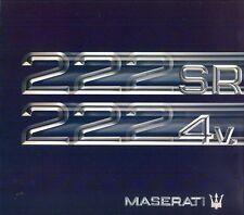 Maserati 222SR 2224v English & Spanish text sales brochure