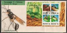 MALAYSIA 1991 Insects Wasps MS FDC