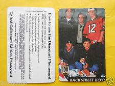 1998 phone cards 100 units backstreet boys schede telefoniche 1998 telefonkarten
