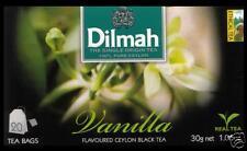 Dilmah Tee-Vanilla Flavoured BLACK Ceylon Tea 20 bustina del tè
