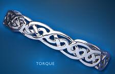 Bangle Torque Silver Bracelet Celtic Cuff Ladies Sterling Silver