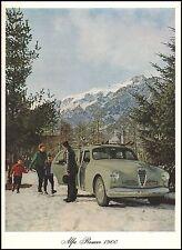ALFA ROMEO 1900 BERLINA AUTO LUSSO MODA MONTAGNA INVERNO FAMIGLIA 1952