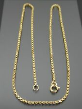 VINTAGE 18ct GOLD BOX LINK NECKLACE CHAIN 21 inch C.1990