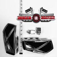 Kuryakyn Chrome Phantom Mini Floorboard & Adapter Kit Front Honda 750 Shadow ACE